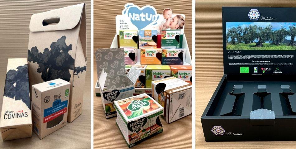 diferentes materiales para packaging